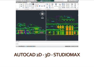 AutoCAD 2D, 3D e Studio Max